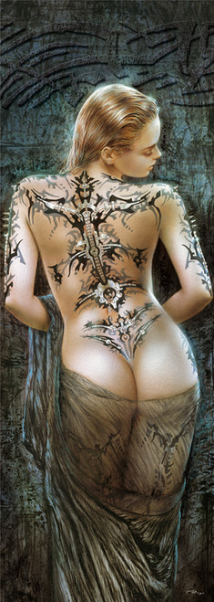 Luis Royo: Flower of Pain - 1000pc Vertical Panoramic Jigsaw Puzzle by Educa (discon)