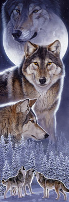 Wolf Calling - 1000pc Panoramic Jigsaw Puzzle by Masterpieces (discon)