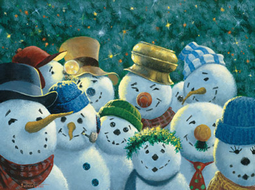Sunshine Committee Snowmen - 550pc Jigsaw Puzzle by Masterpieces (discon)