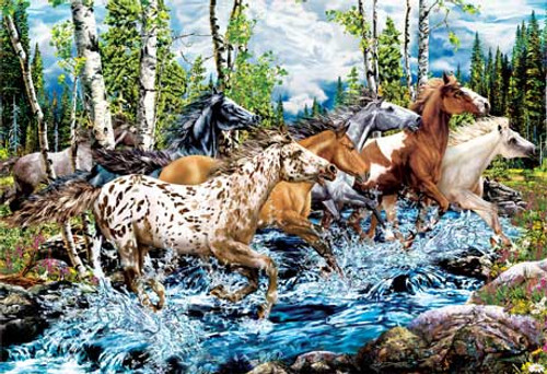 River Run - 500pc Glow in the Dark Jigsaw Puzzle by Masterpieces (discon)