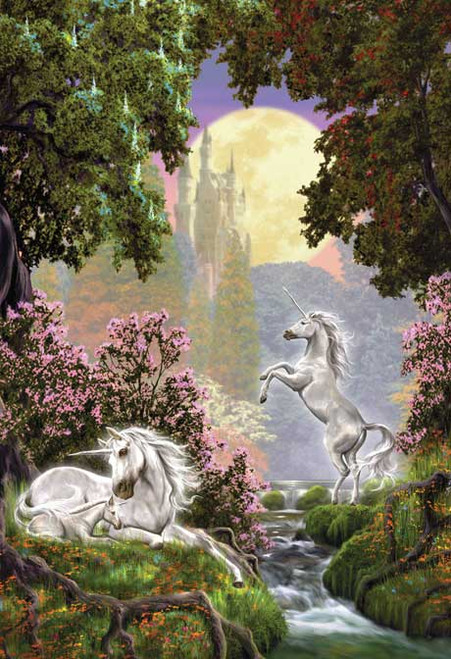 Unicorn Sanctuary - 500pc Glow in the Dark Jigsaw Puzzle by Masterpieces (discon)