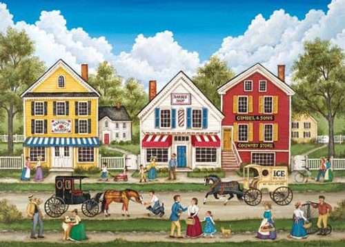 Busy Day Main Street - 500pc Jigsaw Puzzle by Masterpieces (discon)