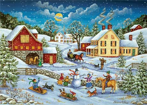 Sledding Race - 500pc Jigsaw Puzzle by Masterpieces (discon)