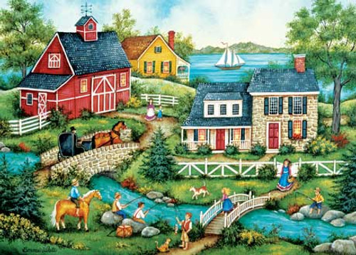 Fishing for Dinner - 500pc Jigsaw Puzzle by Masterpieces (discon)