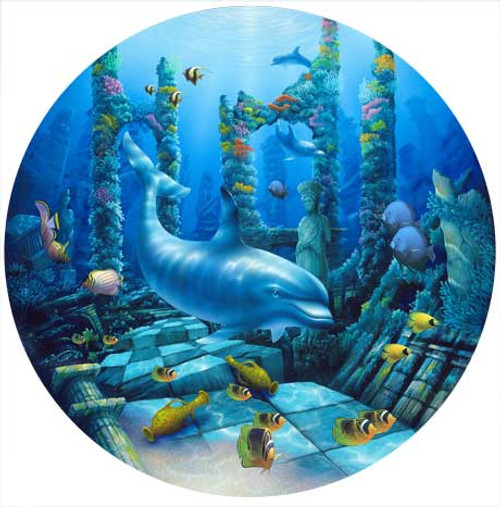 Deep Secrets - 500pc Round Jigsaw Puzzle by Masterpieces (discon)
