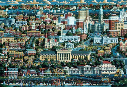 Philadephia - 500pc Jigsaw Puzzle by Masterpieces (discon)