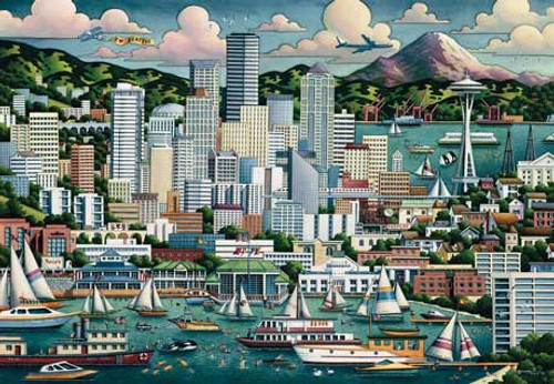 Seattle - 500pc Jigsaw Puzzle by Masterpieces (discon)