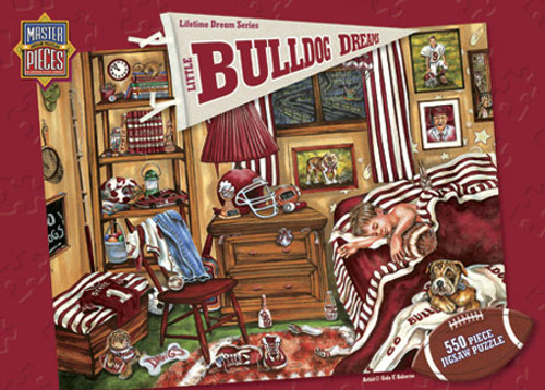 Little Bulldog Dreams - 550pc Jigsaw Puzzle by Masterpieces (discon)