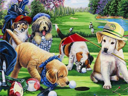 Putting Puppies - 750pc Jigsaw Puzzle by Masterpieces (discon)