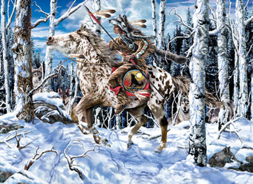 Wolf Rider - 1000pc Jigsaw Puzzle by Masterpieces (discon)