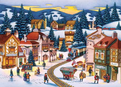 Frosty Delivery - 1000pc Jigsaw Puzzle by Masterpieces (discon)