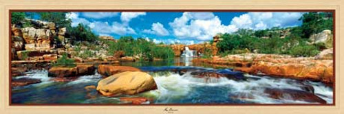 Atlantis Falls - 1000pc Panoramic Jigsaw Puzzle by Masterpieces (discon)