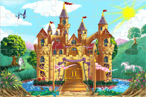 Fairy Tale Castle - 48pc Floor Puzzle By Melissa & Doug (discon)
