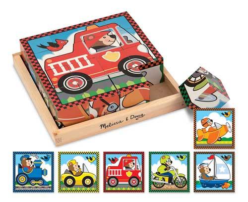 Children's Puzzles - Vehicle Cube