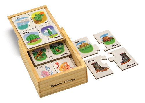 Opposites - 20pc Puzzle Cards By Melissa and Doug (discon)