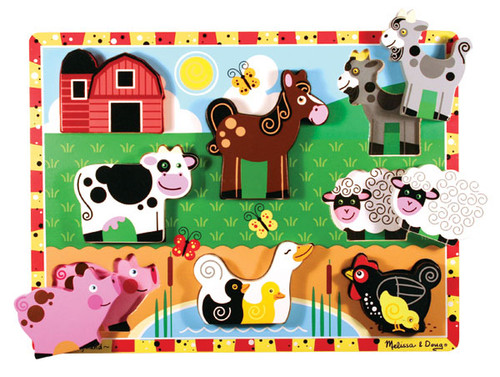 Children's Puzzles - Farm Animals Puzzle By Melissa & Doug