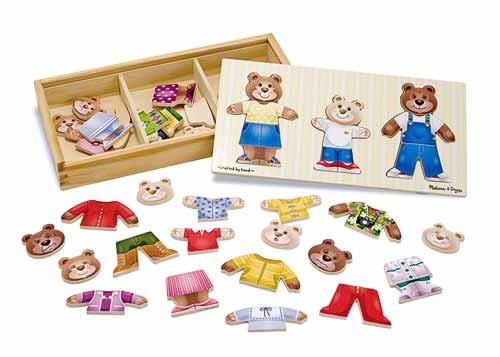 Children's Puzzles - Wooden Bear Family Dress