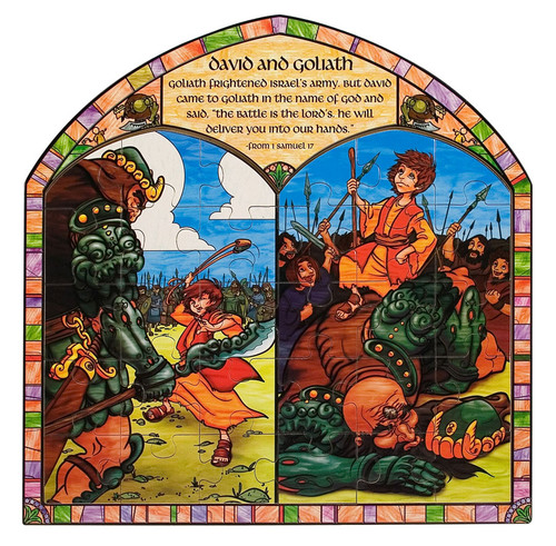 David and Goliath - 30pc Wooden Jigsaw Puzzle By Melissa and Doug (discon)