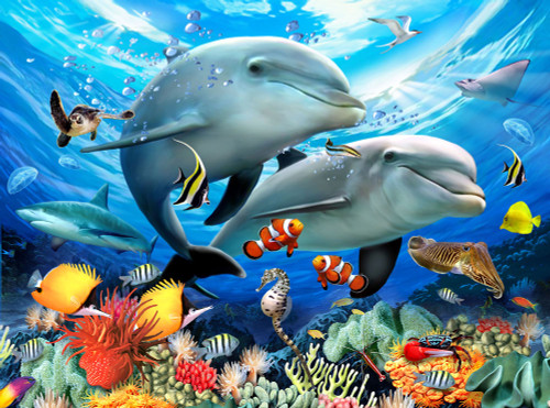 Animal Planet™ - Underwater - 300pc Large Format Jigsaw Puzzle By Ravensburger (discon)