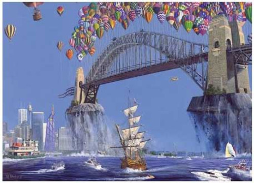 Sydney Harbor Lift-Off - 150pc Jigsaw Puzzle by Serendipity (discon)