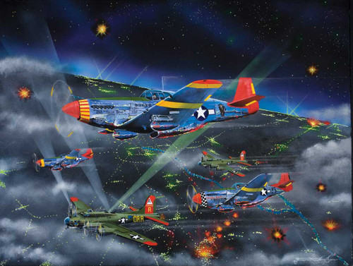 Night Fighters (Tuskegee Airmen) - 500pc Jigsaw Puzzle by Sunsout (discon)