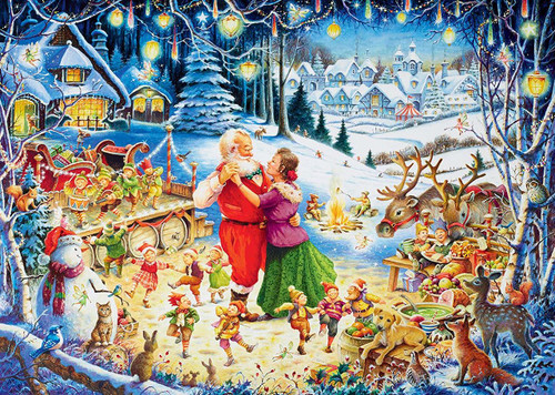 Limited Edition: Santa's Christmas Party - 1000pc Jigsaw Puzzle By Ravensburger