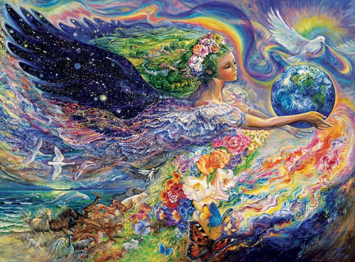 Josephine Wall:  Earth Angel - 1000pc Jigsaw Puzzle by Buffalo Games