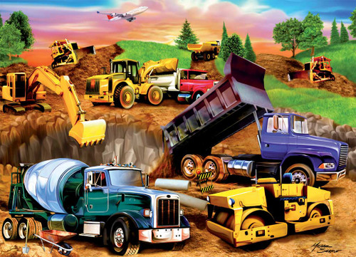 Jigsaw Puzzles for Kids - Construction Crowd