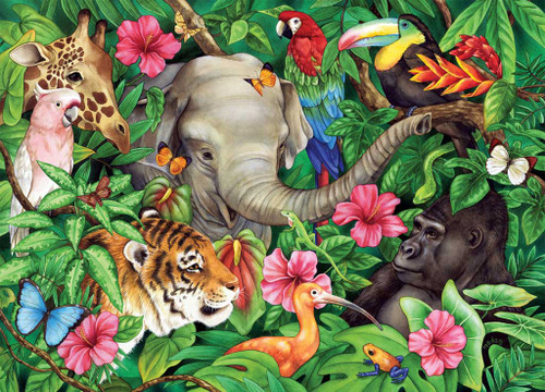 Jigsaw Puzzles for Kids - Tropical Friends