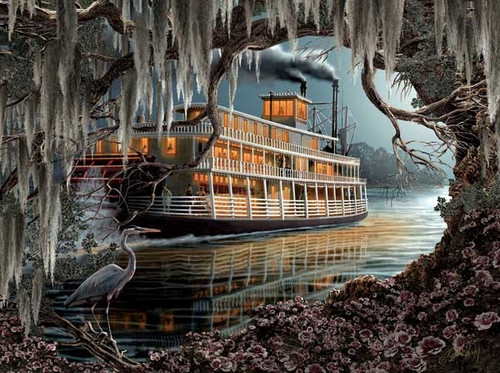 Jigsaw Puzzles - Night on the River