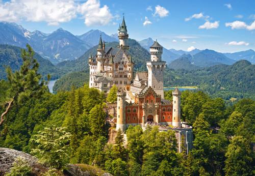 Neuschwanstein Castle, Germany - 1500pc Jigsaw Puzzle By Castorland