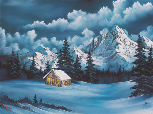 Bob Ross: Winter - 500pc Jigsaw Puzzle by Wellspring