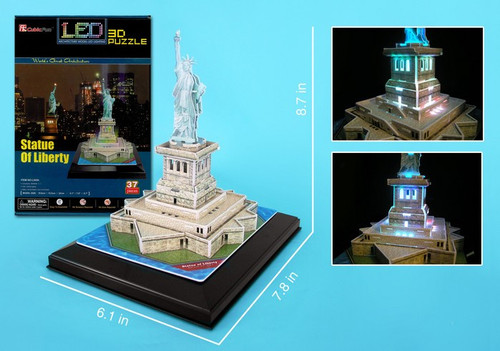 3D Puzzles - LED Light Up Version!: Statue of Liberty