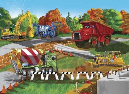Melissa and Doug Jigsaw Puzzles for Kids - Construction Site