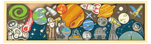 Space A to Z - 26pc EcoFriendly Wooden Puzzle