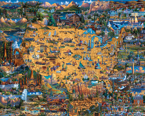 National Parks - 500pc Jigsaw Puzzle by Dowdle