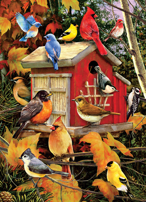Fall Birds - 1000pc Jigsaw Puzzle by Cobble Hill - SeriousPuzzles.com
