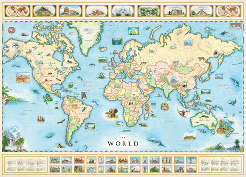Xplorer world map 1000pc jigsaw puzzle by masterpieces xplorer world map 1000pc jigsaw puzzle by masterpieces gumiabroncs Image collections