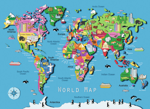 Ravensburger world map puzzle seriouspuzzles jigsaw puzzles for kids world map gumiabroncs Choice Image