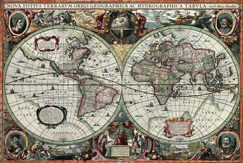 Historical old world map 1000pc jigsaw puzzle by tomax historical old world map 1000pc jigsaw puzzle by tomax gumiabroncs Gallery