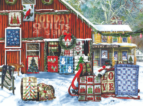 Holiday Quilts 1000pc Jigsaw Puzzle By Sunsout