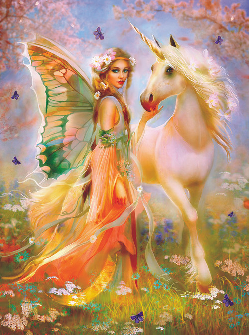Fairy Princess and Unicorn - 1000pc Jigsaw Puzzle by ...