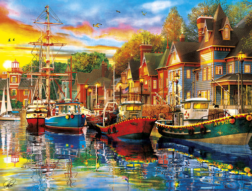 Harbor Lights - 750pc Jigsaw Puzzle By Buffalo Games - SeriousPuzzles.com
