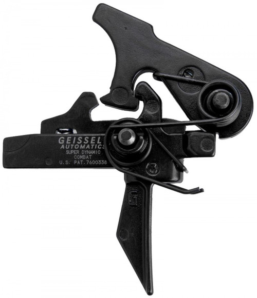 The Geissele Super Dynamic-Combat (SD-C) Trigger featuring an exclusive flat trigger bow, is a rugged, nonadjustable combat trigger with a sear design that provides a wide margin of safety against unintentional discharges yet still gives the operator a sharp, repeatable trigger release.
