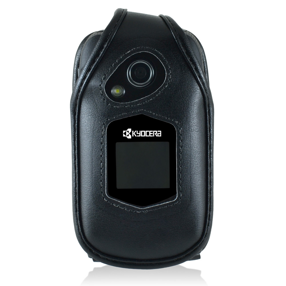 Kyocera DuraXTP Leather Fitted Case, Metal Belt Clip