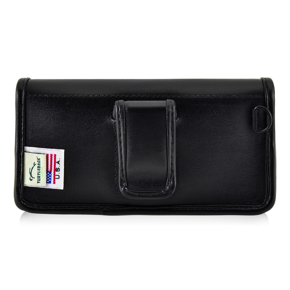 5.30 x 2.62 x 0.60 in  - Smartphone Credit Card Pocket Case Holster Black Clip (iPh 8, 7, 6, 5, SE)