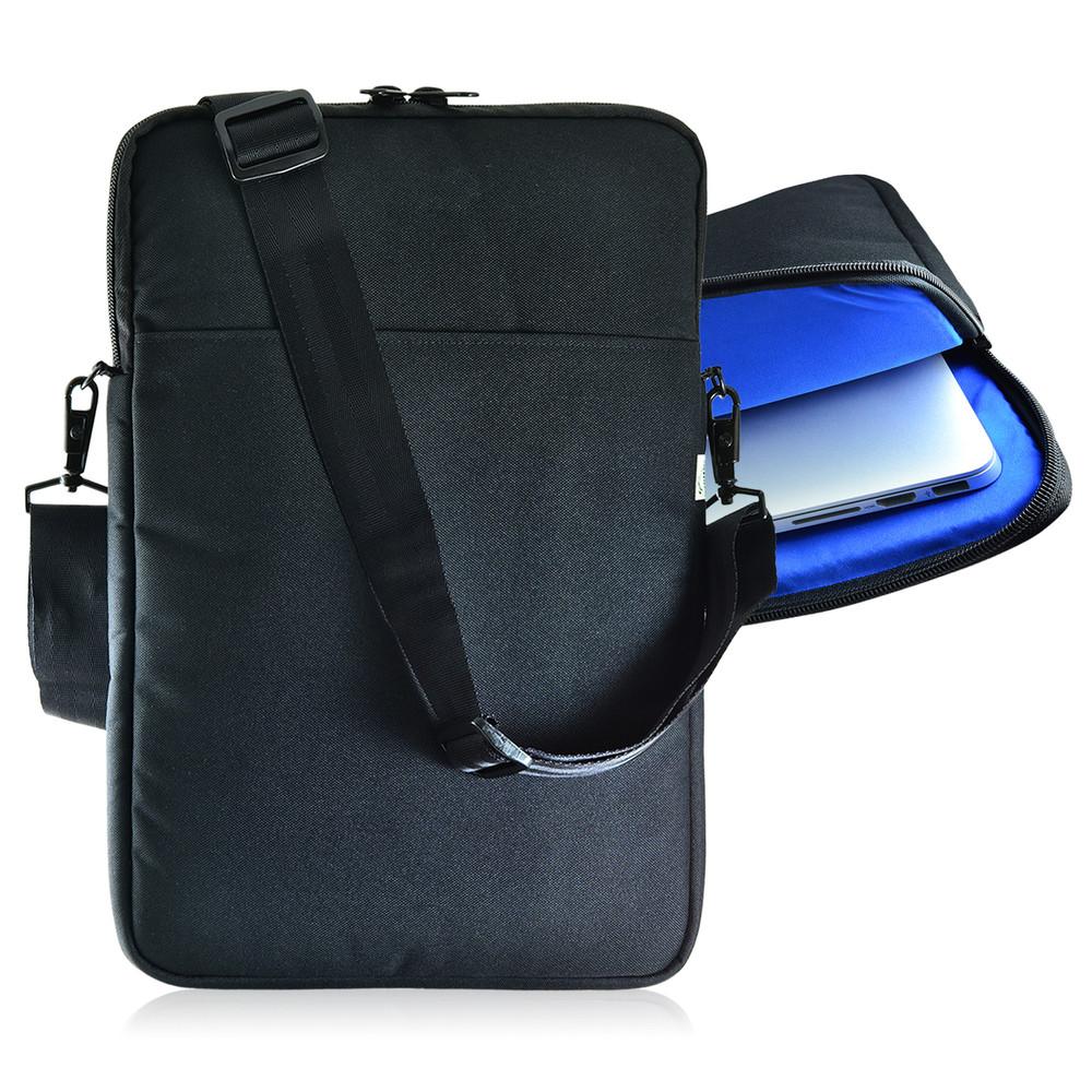 apple 14in macbook laptop padded sleeve bag case with straps blue turtleback case. Black Bedroom Furniture Sets. Home Design Ideas