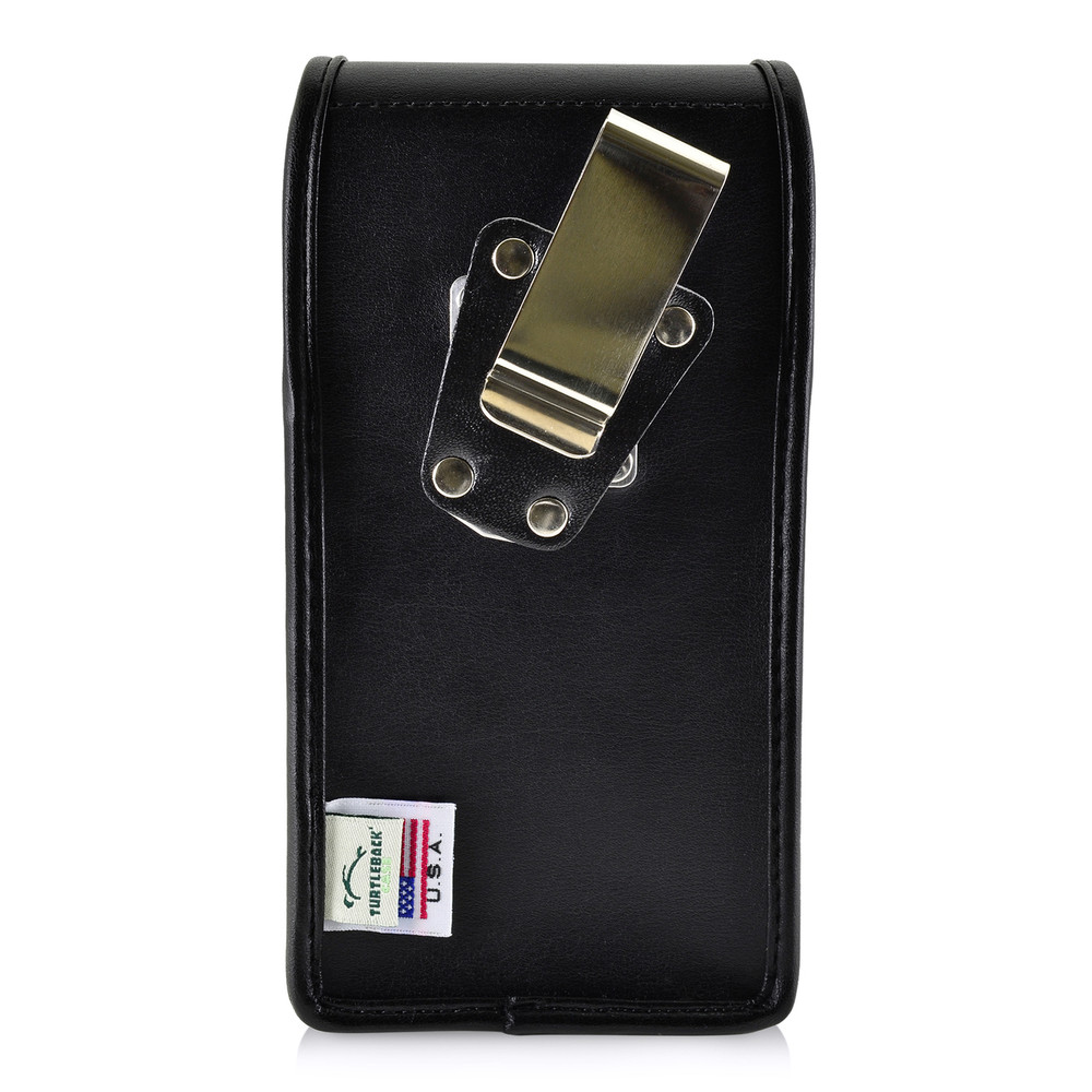 Samsung Note 8 Holster Metal Clip Case Pouch Leather Vertical Turtleback