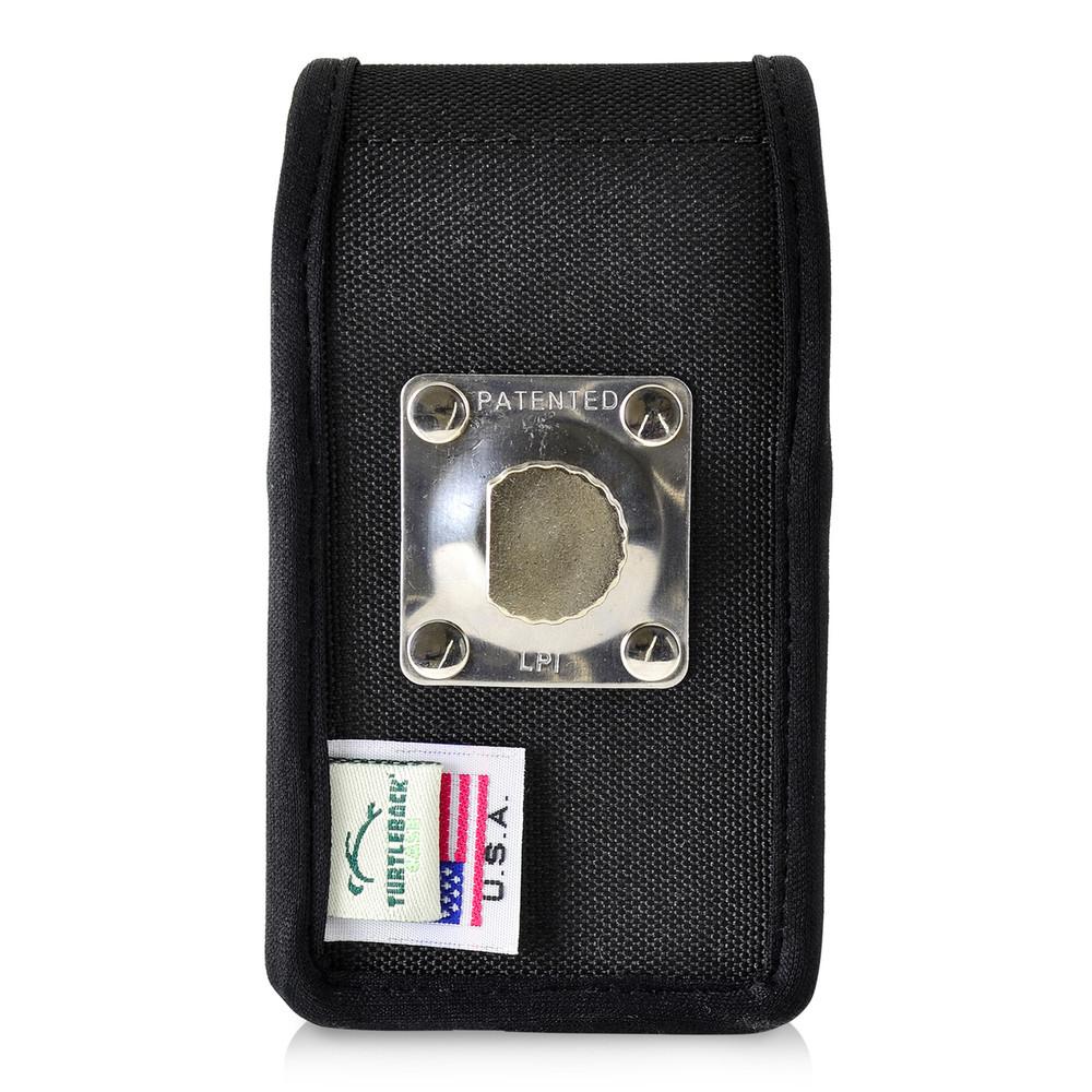 ZTE Cymbal Z320 Black NYLON Magnetic Closure Case Heavy Duty Rotating Belt Clip