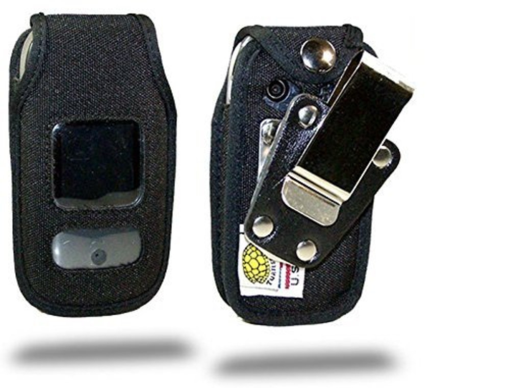 Pantech Breeze 3 Heavy Duty Nylon Phone Case with Rotating Metal Clip
